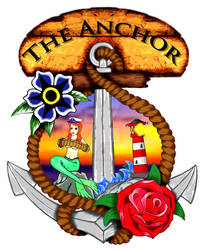 The Anchor Stable Bar stage piece.