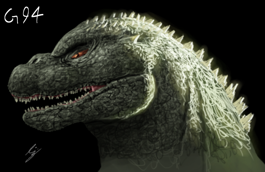 Godzilla 1994 doodle by Demplex
