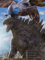 Godzilla and Mothra 2018 by Demplex