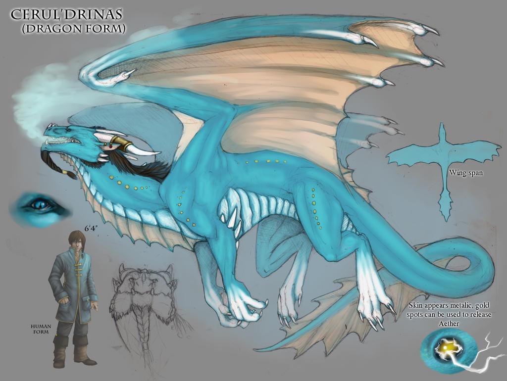 wolf dragon hybrid anthro