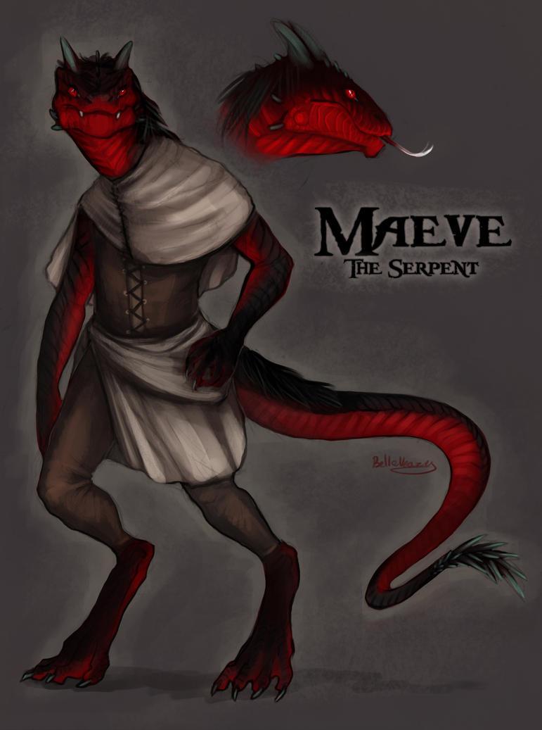Humanoid Lizard Maeve humanoid version by