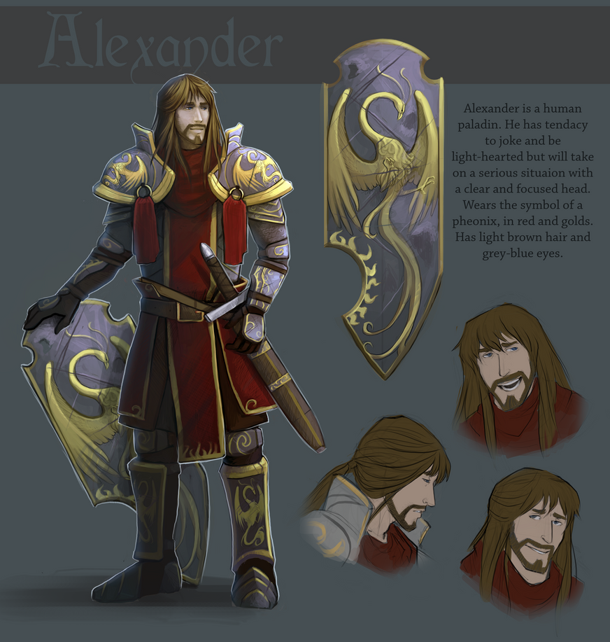 Commission: Alexander the Paladin Ref by Serpentwined