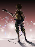 The Bass Player by myszowor