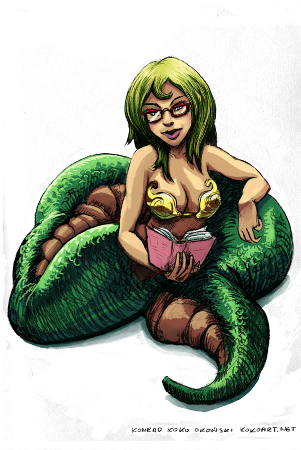 Naga character design by myszowor