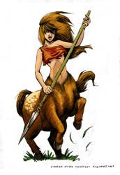Centaur character design by myszowor