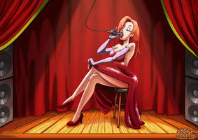 Jessica Rabbit commission by myszowor