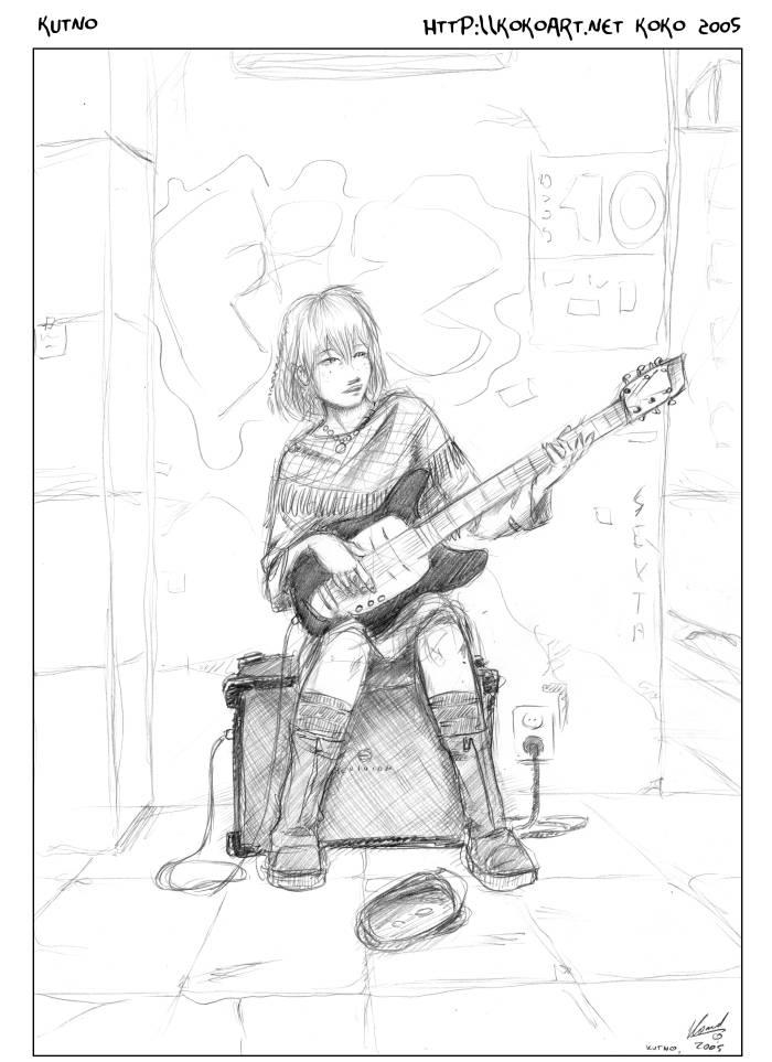 Guitar Girl by myszowor