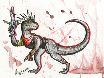 Militant Raptor by DracoPhobos