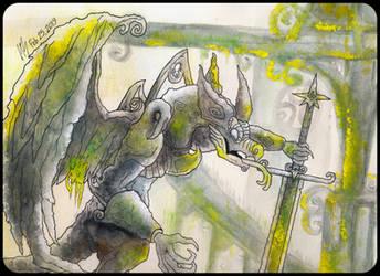 Gargoyle Knight by DracoPhobos