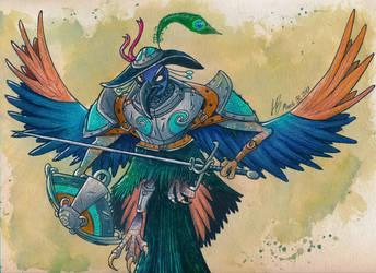 peacock man by DracoPhobos