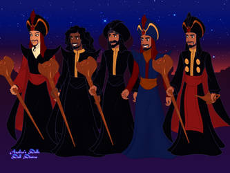 Jafar throughout the Disney Franchise by suburbantimewaster