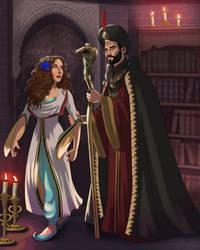 Jafar hypnotizes Amana (Desert Rose)