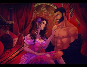Jafar and Amana (Desert Rose)