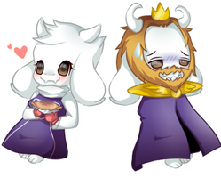 Undertale Speedpaint Chibis ft  Toriel and Asgore by Megumi-ChanYT