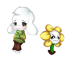 Undertale Speedpaint ft.  Asriel and Flowey by Megumi-ChanYT