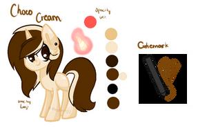 [Ponysona]Choco Cream Reference Sheet by Megumi-ChanYT