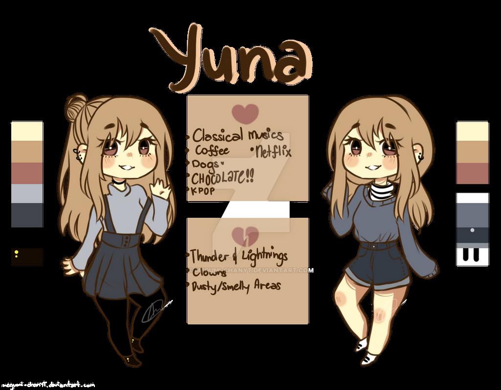 Yuna Reference Sheet by Megumi-ChanYT