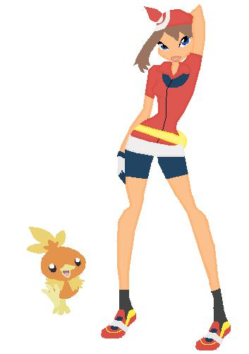 may and torchic by twinlightownz