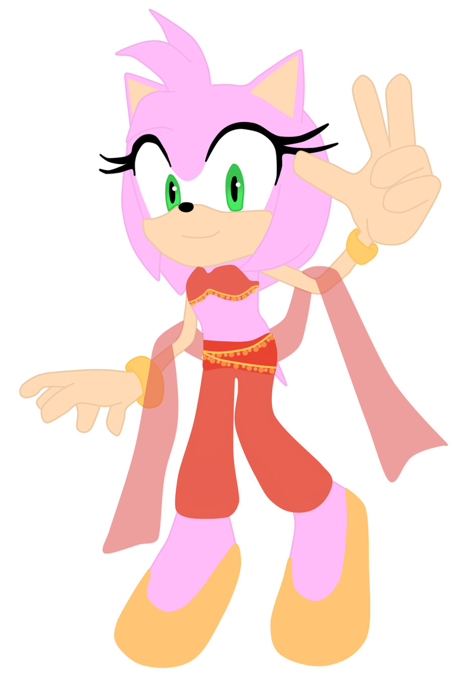 amy rose belly dancer by twinlightownz