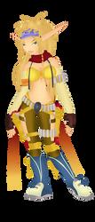 Rikku In Jak and daxter by twinlightownz