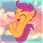 Jumping Scootaloo avatar. by SonicRainboomZ