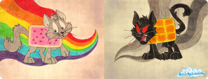 Nyan Cat and Tac Nayn.