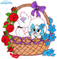 Roses for Mewsette and violets for Blue~