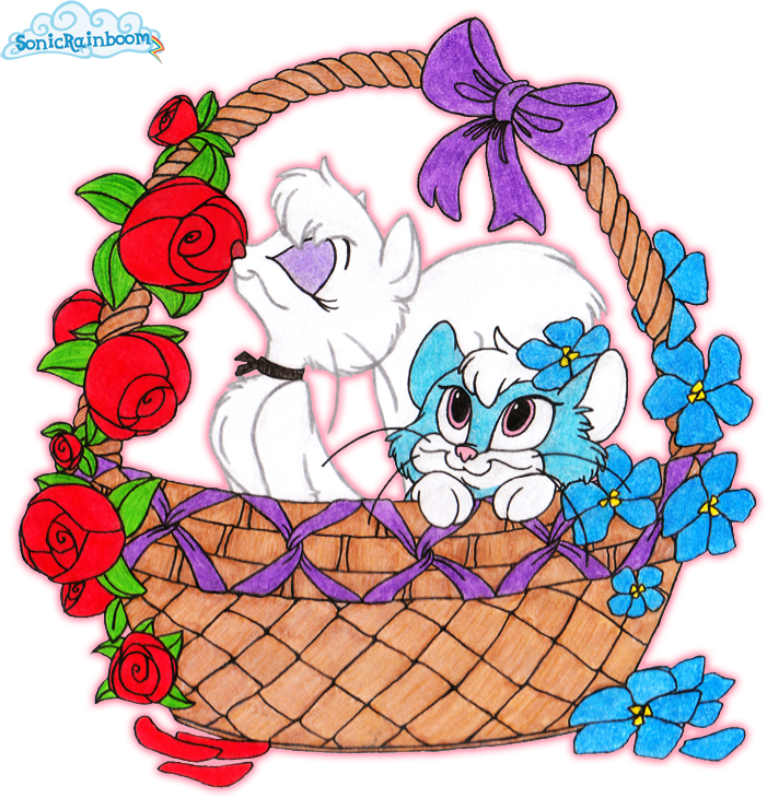 Roses for Mewsette and violets for Blue~ by SonicRainboomZ
