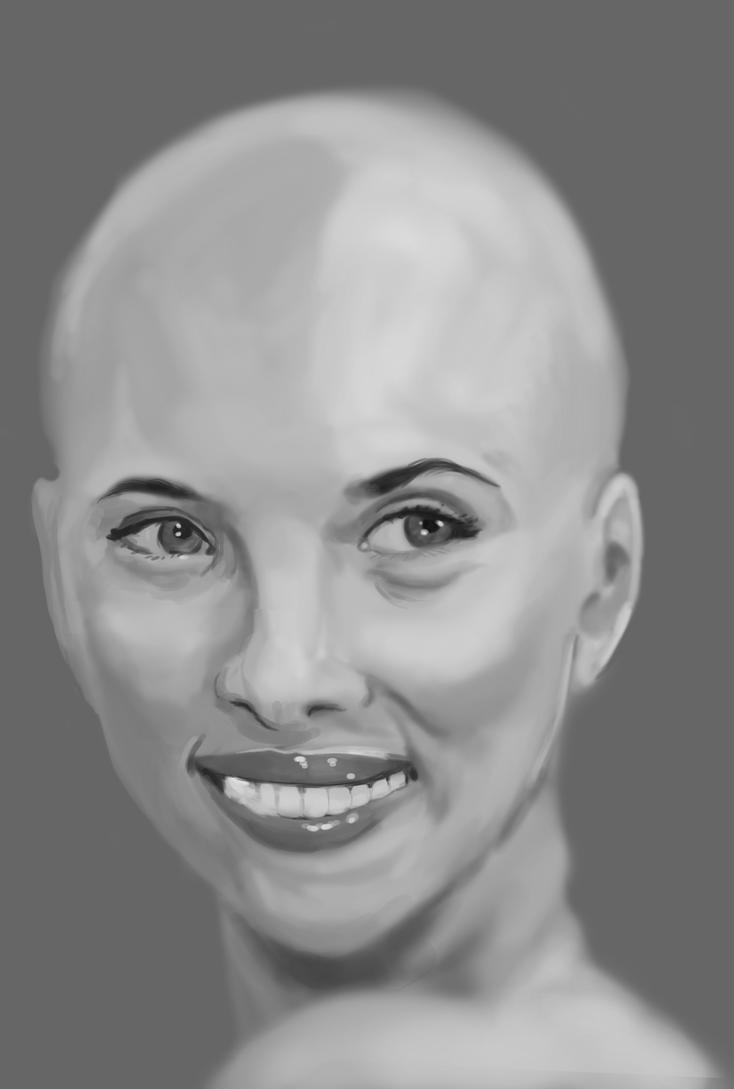 Bald Photo Study - Scarlett Johansen by rockslide