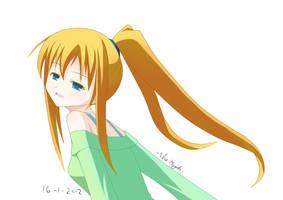 random girl - colored by BlueMagenta