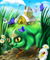 The house, the Cat, on sure pads by AliceSad