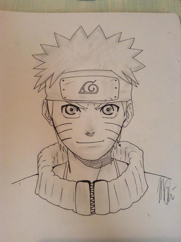 old Naruto Drawing by Mghbear
