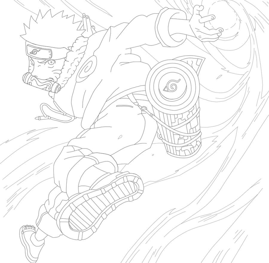 Naruto Rasengan Lineart By Viki9 On Deviantart