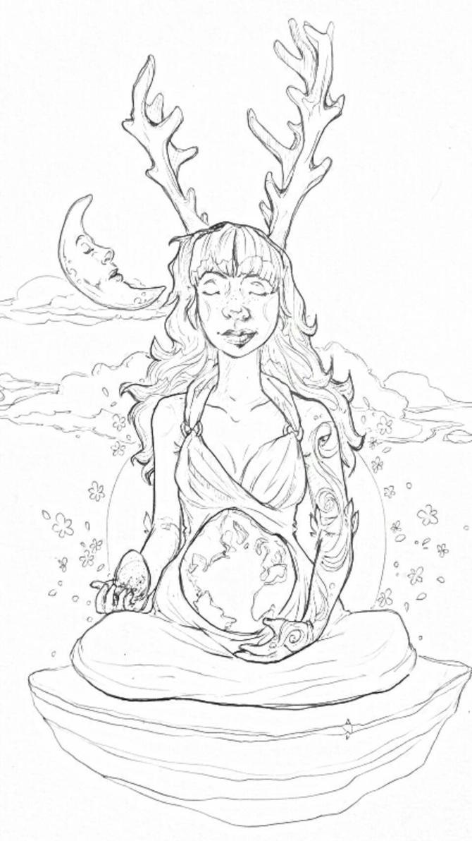 mother earth (wip) by sunshynedancer