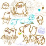 Diglett and Dugtrio Sketches by DigitalFlareon