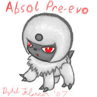 Unnamed Absol Preevo by DigitalFlareon
