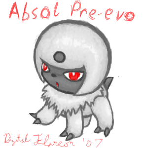 Unnamed Absol Preevo by DigitalFlareon