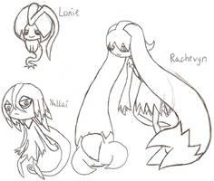 Lonie, Nullai, and Rachevyn by DigitalFlareon