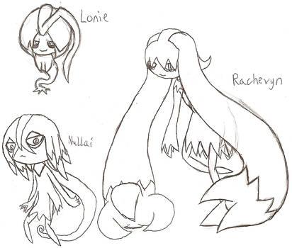 Lonie, Nullai, and Rachevyn