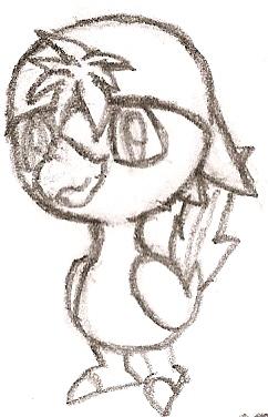 Fakemon: Punkrow by DigitalFlareon