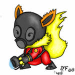 TF2 Spray-Flareon in Pyro Suit