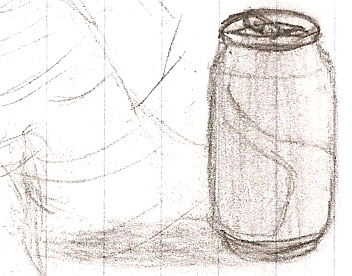 Coke can sketch by DigitalFlareon