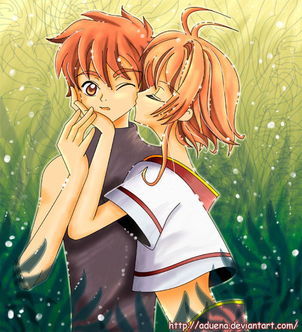 Kiss Syaoran+Sakura By Aduena On DeviantArt