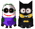 Joker and Batman minions by jangiyodha
