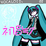 Hatsune Miku V2 boxart fan redraw