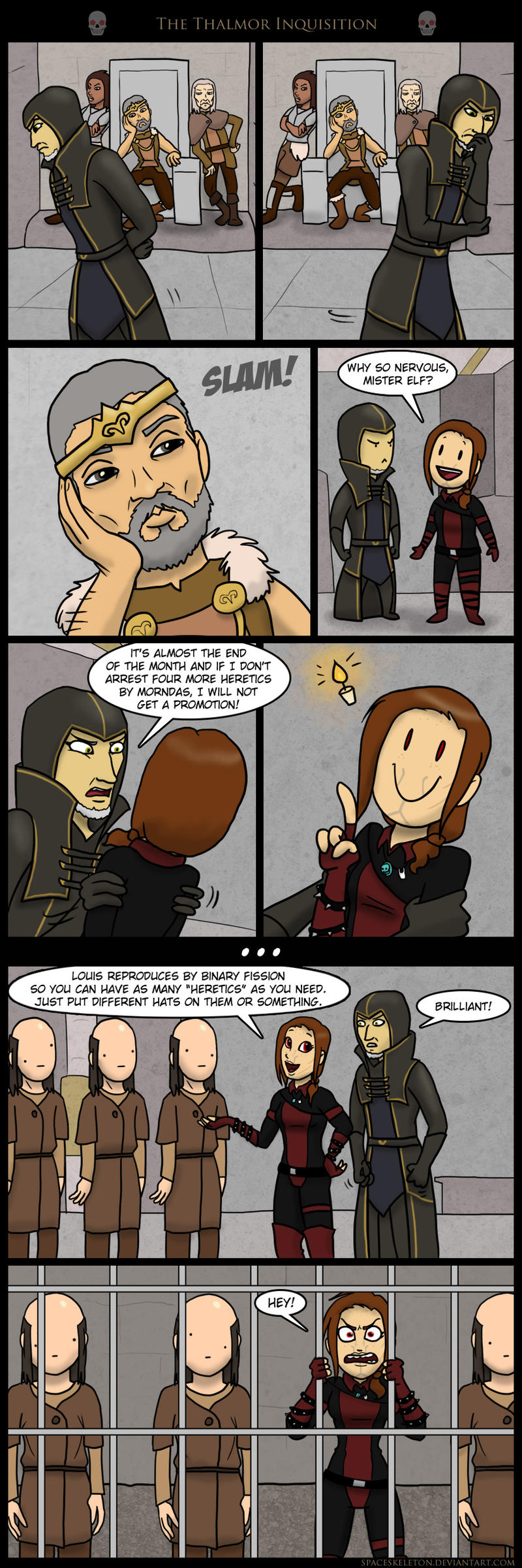 The Thalmor Inquisition by spaceskeleton