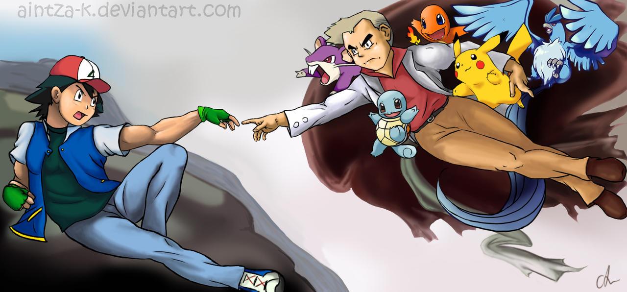 the creation of pokemon by aintza