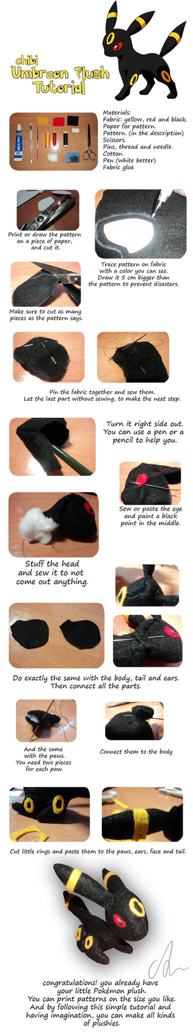 Chibi Umbreon Plush Tutorial by Aintza-K