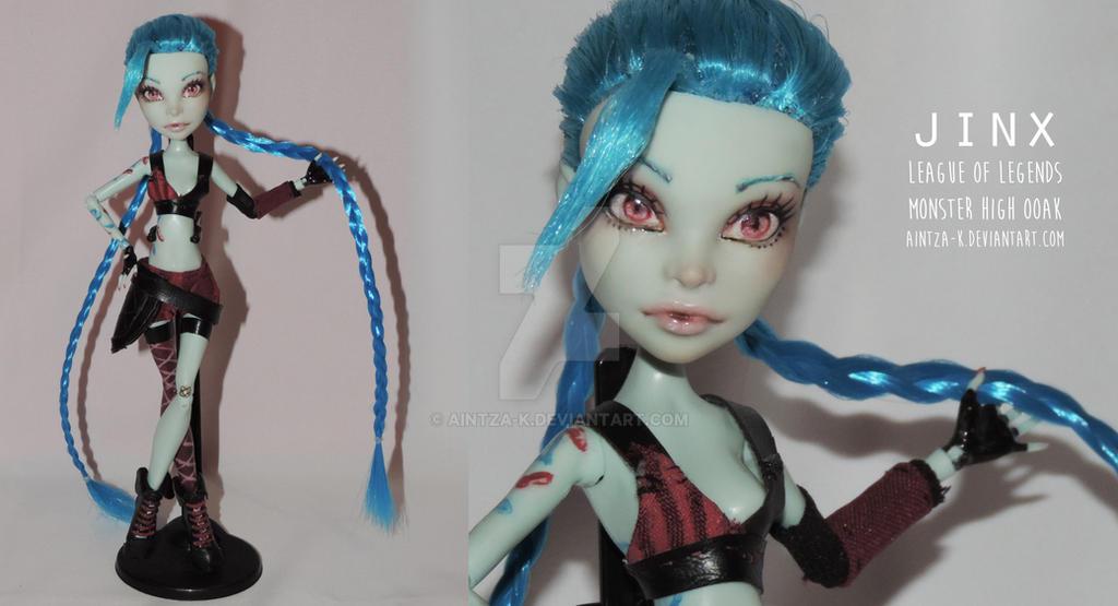 Jinx LoL   Monster High OOAK by Aintza-K