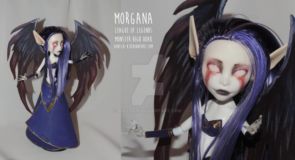 Morgana LoL   Monster High OOAK   ON SALE by Aintza-K
